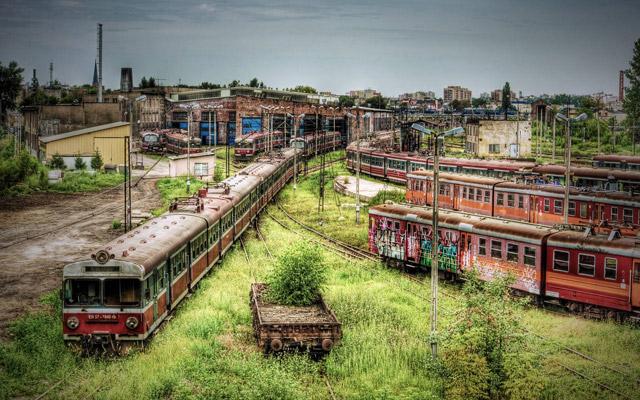 Polish Train Yard